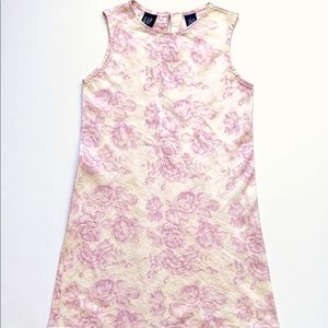 Girls' GAP Pink and White Floral Linen Dress